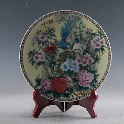 Chinese Porcelain Handmade Flowers Plate Made During The Qianlong Period XPZ013
