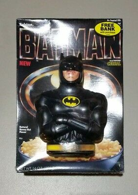 Ralston BATMAN Cereal box with Coin Bank 1989 movie Sealed DC Comics New promo