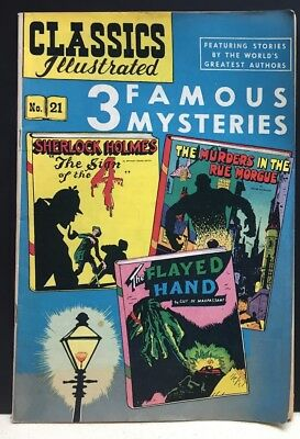 CLASSICS ILLUSTRATED 3 FAMOUS MYSTERIES #21 No. 21 Murders In Rue Morgue Horror
