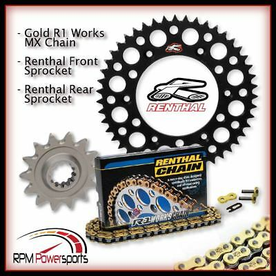 compatible with Kawasaki KLX450R /& KX450F 13//51 GREEN Renthal Grooved Front /& Twinring Rear Sprocket /& R3 O-Ring Chain Kit