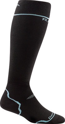 Darn Tough Women's Thermolite RFL Over-the-Calf Ultra-Light, Black/Glacier, M