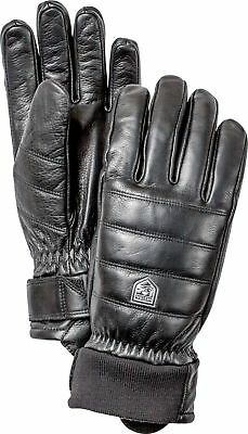 Hestra Unisex Alpine Leather Primaloft Glove, Black, 9
