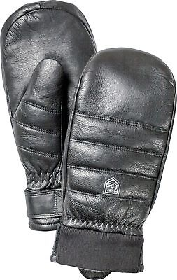 Hestra Unisex Alpine Leather Primaloft Mitt, Black, 9