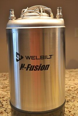 WELBILT N-FUSION 3 Gallon Liquid Storage Keg  29750PS, FOOD GRADE, SS