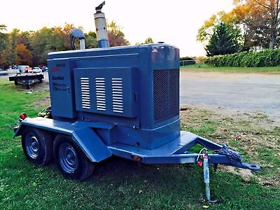 Onan Portable Generator Trailer Mounted Low 690 Hours Genset 12 Lead 1 / 3 Phase