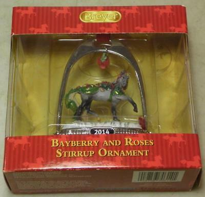 """Breyer Horse #700314 """"Bayberry and Roses"""" Holiday Horse Stirrup Ornament"""