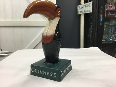 Castiron Cast Iron Guinness Toucan Bird Figure Figurine Bar New Mancave Man Cave