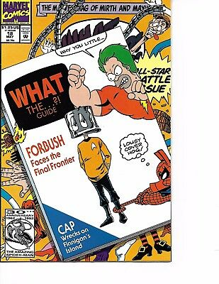 What The ?! #18 1992  Marvel Comic