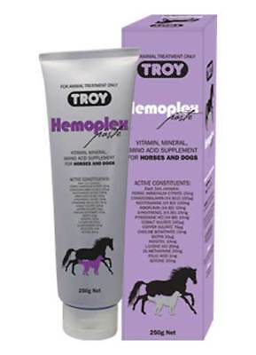 Troy Hemoplex Paste 250g Vitamin mineral Amino acid supplement for Horses & Dogs