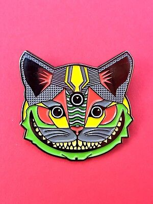 3rd EYE CHESHIRE CAT PIN...dead panic phish bassnectar pretty lights cheese