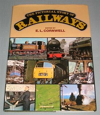 The Pictorial Story of Railways, by EL Cornwell, HC book