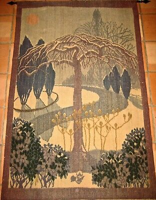Antique Arts And Crafts Tapestry C. 1920
