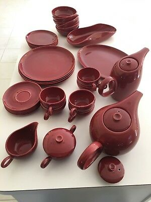 Rare Vintage Denby Galaware 38 Total Piece Set Oxblood Color Local Pickup Only