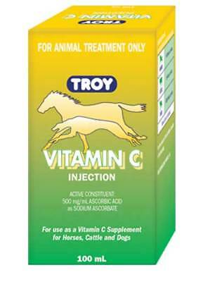 Troy Vitamin C 100ml For use in Horses Cattle & Dogs with Vitamin C deficiencies