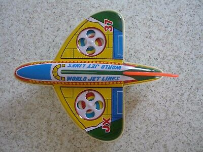 Vintage Tin & Plastic Toy Plane Made in Japan