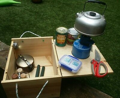 Camping Picnic 4x4 Traveling Outdoor Kitchen Cooking Supply Setup, in a Box.
