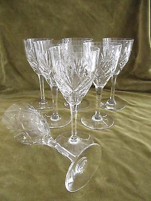 7 verres à eau cristal Saint Louis Chantilly crystal water glasses