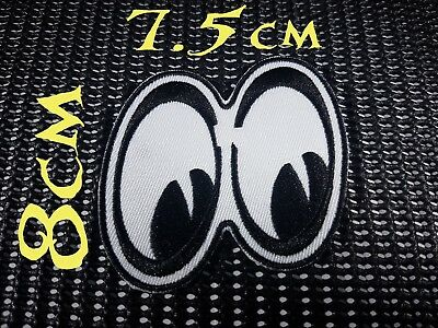 Quality Iron/Sew on Cartoon eyes Patch crazy rabbit looking down bugs bunny