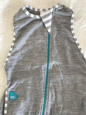 Size L Large Love To Layer On MERINO Baby Swaddle Grey Love To Dream Boy Girl