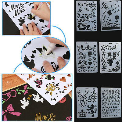Painting Paper Card Letter Alphabet Number Layering Stencils Craft