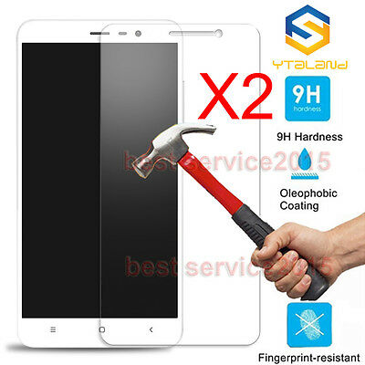 2Pcs X 9H Tempered Glass Screen Protector For Xiaomi Redmi Note 3 / Note 3 Pro