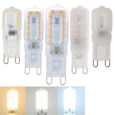 Dimmable G9 3W 5W COB LED Silicone Spot Light Bulb Lamp Cold Warm White110/220V