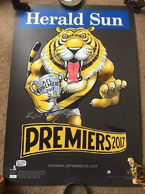 Mark Knight Premium Limited Edition Premiership Poster 2017 557/1000