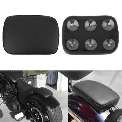 Motorcycle Pillion Passenger Pad Seat 6 Suction Cup For Harley Custom Chopper