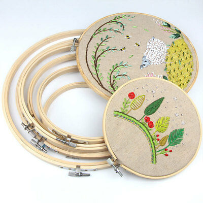 Embroidery Hoop Round Frame Circle Sewing Ring Profession Practical 34CM