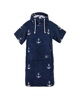 Atlantic Shore | Surf Poncho ➤ Bademantel / Umziehhilfe ➤ Anchor Navy Blue