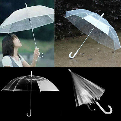 Clear Transparent Rain Umbrella Parasol PVC Dome for Wedding Party Favor SI