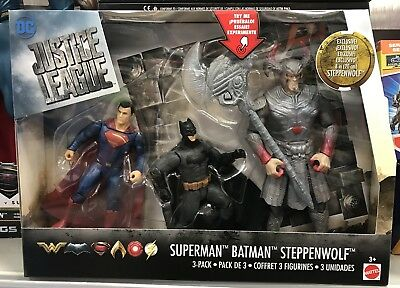DC JUSTICE LEAGUE Playset XMASPACK SUPERMAN BATMAN STEPPENWOLF! POST IN 24 HOURS