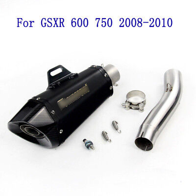 For GSXR 600 750 2008-2010 Motorcycle Exhaust Muffler Middle Tube Mid Link Pipe