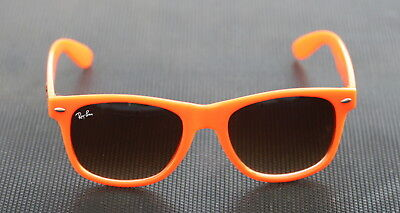 "Vintage Authentic Ray Ban WAYFARER Orange Sunglasses Made In Italy ""RETRO"""