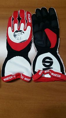 Guanti Kart Sparco Blizzard  Tg M Rosso - Karting Gloves Red Black