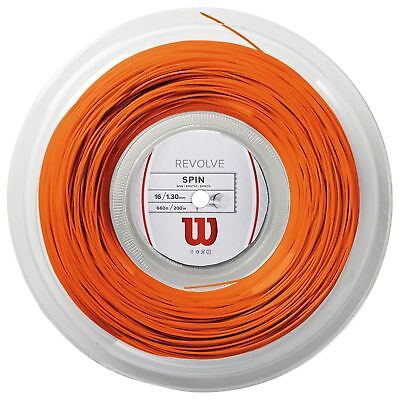 Wilson Revolve SPIN Tennis String Reel - Orange - 1.30mm / 16 - 200m - CLEARANCE