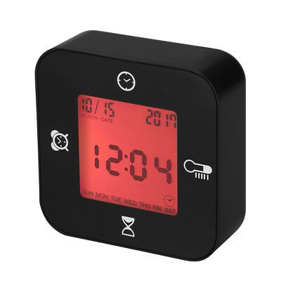 LED Digital Battery Alarm Clock Timer Calendar Thermometer+Backlight G-sensor UK