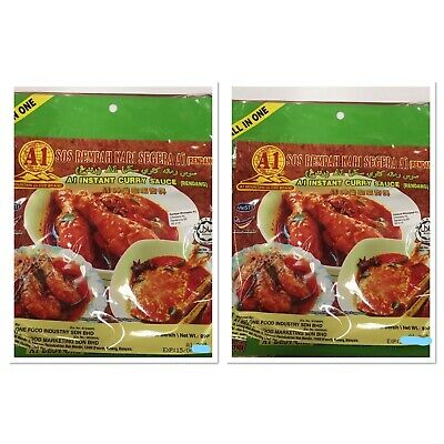 2 Pack A1 Mountain Globe Brand - Instant Curry Sauce (Rendang) 460gm
