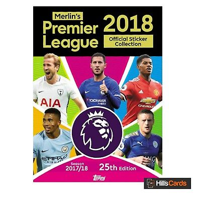 Starter Pack: Merlin's Premier League Football Stickers 2018 Topps 2017/18 Album