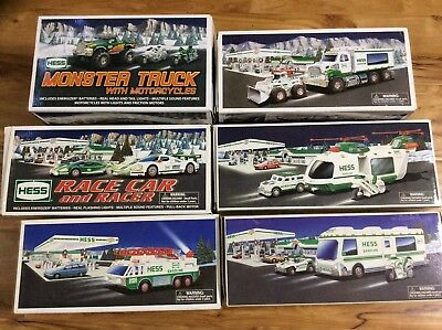 Lot of 6 Hess Vintage Trucks 1996, 1998, 2001, 2007, 2008, 2009 COMPLETE IN BOX*