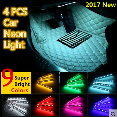 7 color rgb led neon strip light music remote control for car interior lamp bulb cad. Black Bedroom Furniture Sets. Home Design Ideas
