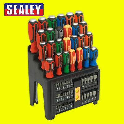 SEALEY S01153 SIEGEN IMPACT Screwdriver Bit Nut Driver Set 61pce + Storage Rack