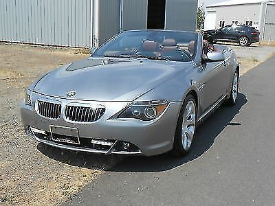 2006 BMW 6-Series Leather 2006 BMW 650i Convertible Sport twin turbo fully loaded burgundy interior