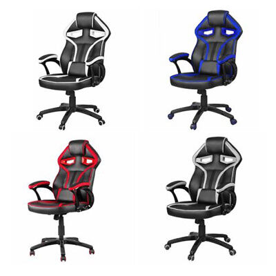 Adjustable Executive Gaming Office Chair Racing Computer Swivel Reclining