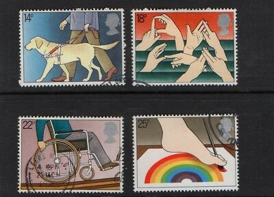 GB QE II 1981 Internationa Year of the Disabled set VFU