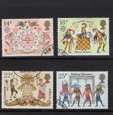 GB QE II 1981 Folklore set VFU