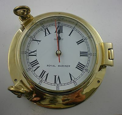 Brass Ships Marine Porthole Clock - Solid Brass Large - New - BS49