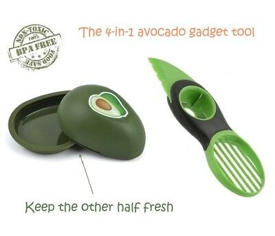 Buyless Kitchen 3-in-1 Avocado Slicer, Gadget. And Avocado Fresh Keeper, Green