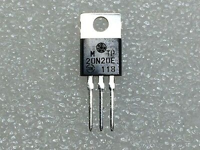 MTP20N20E ON SEMI Trans MOSFET N-CH 200V 20A 3-Pin 10 PIECES