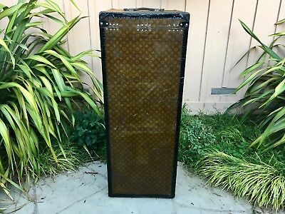 LOUIS VUITTON Monogram Travel Steamer Trunk chest purse bag LV  Extra Large